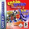 Crash Nitro Kart and Spyro Season of Flame double pack GBA Game